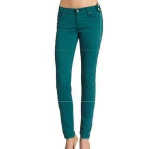 7 FOR ALL MANKIND GREAT COND GREEN GWENEVERE JEANS